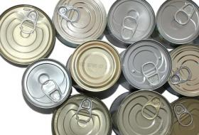 top of tin cans